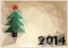 Kort för nytt år i stil av kubism Arkivbild