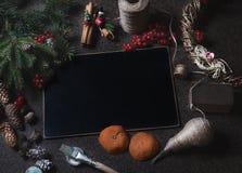 Kort för nytt år som förbereder sig för jul Royaltyfri Foto