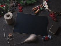 Kort för nytt år som förbereder sig för jul Arkivbilder