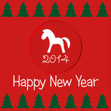 Kort för nytt år som hälsar 2014 Royaltyfri Fotografi