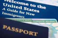 Kort för permanent invånare för Förenta staterna arkivfoto