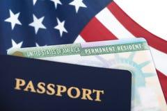 Kort för permanent invånare för Förenta staterna royaltyfri foto