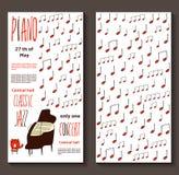 Kort för pianokonsertinbjudan Fotografering för Bildbyråer