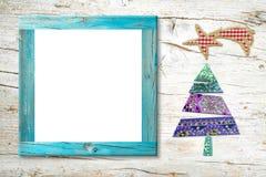 Kort för ram för Xmas-Kristi födelsefoto fotografering för bildbyråer