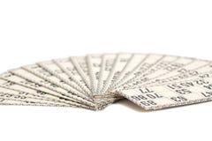 Kort för rysk lotto & x28; bingogame& x29; Arkivbilder