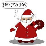 Kort för ` s för nytt år med Santa Claus vektor illustrationer