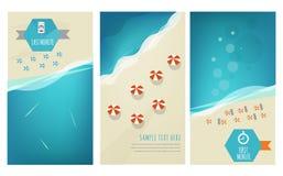 Kort för sommarferier vektor illustrationer