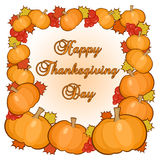 Kort för tacksägelsedaghälsningar Vektor Illustrationer