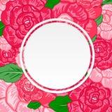 Kort för tappningvattenfärghälsning med att blomma blommor Rosor W Arkivbilder