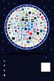 Kort för tjänste- annons för Website ljust vektor illustrationer