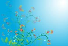 Kort för utsmyckad hälsning för blomma gulligt Arkivbilder