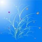 Kort för utsmyckad hälsning för blomma gulligt Arkivfoto
