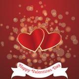 Kort för valentin Da Royaltyfria Foton