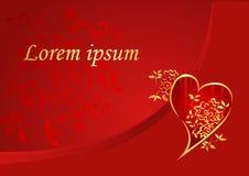 Kort för valentin`-dag Royaltyfri Foto