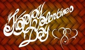 Kort för valentin dag, calligraphic stilsort som är handgjord Royaltyfri Bild