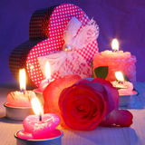 Kort för valentindagferie - materielfoto Royaltyfri Bild