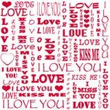 Kort för Valentine& x27; s-dag Arkivbild