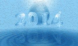 Kort för vatten 2014 Arkivbild