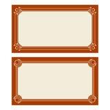 Kort för vektorart décoinbjudan Fotografering för Bildbyråer