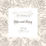 Kort för vektortappningbröllop Arkivfoto
