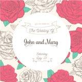 Kort för vektortappningbröllop Royaltyfri Foto