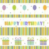 Kort för lycklig födelsedag Arkivfoton