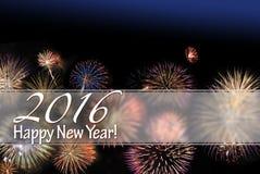 Kort för lyckligt nytt år 2016 Arkivfoton