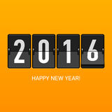 Kort för lyckligt nytt år 2016 Royaltyfri Fotografi