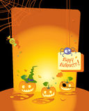 kort halloween Royaltyfria Foton