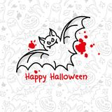 kort halloween Royaltyfri Fotografi
