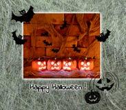 kort halloween Arkivfoto