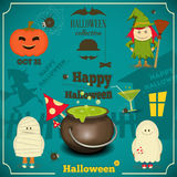 kort halloween Arkivbilder