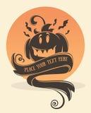 kort halloween stock illustrationer