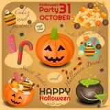kort halloween vektor illustrationer