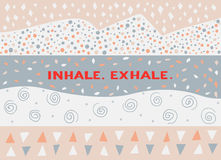 Kort i en minsta stil, vektormallar inhalera utandas Arkivfoto