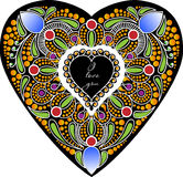 Kort i formen av hjärta Royaltyfri Foto