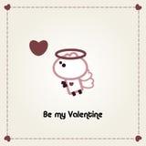 kort illustrerade valentiner vektor illustrationer