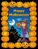 kort lyckliga halloween Arkivbild