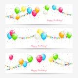 Kort med ballonger stock illustrationer