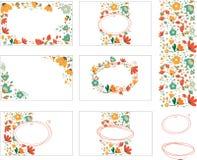Kort med blommor vektor illustrationer