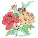 Kort med blommor Royaltyfri Foto