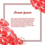 Kort med blommor och ställe för text Fotografering för Bildbyråer