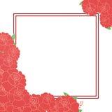 Kort med blommor och ställe för text Royaltyfri Foto