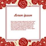Kort med blommor och ställe för text Arkivfoto