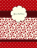 Kort med Cherrymodellen för din design Royaltyfria Foton