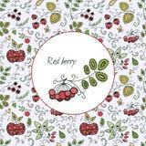 Kort med dekorativa bär stock illustrationer