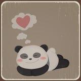 Kort med den gulliga pandan. Arkivfoton