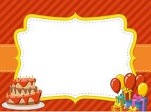 Kort med ett födelsedagparti vektor illustrationer