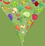 Kort med grönsaker Arkivfoto