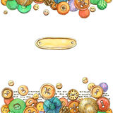 Kort med knappar royaltyfri illustrationer